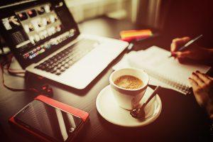 Besprechung mit Kaffee